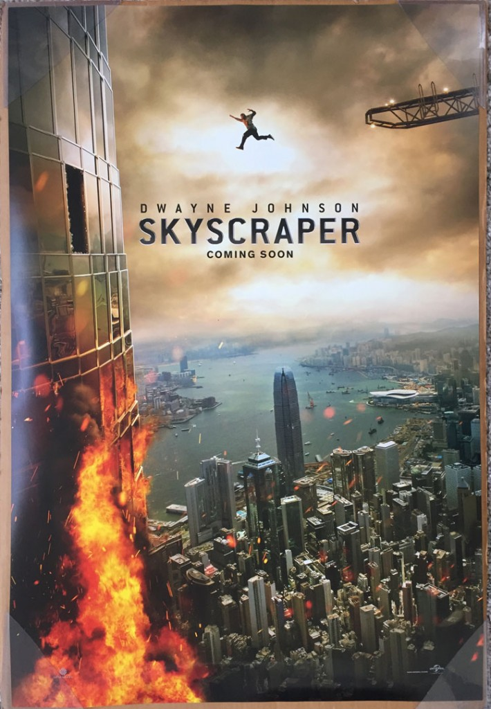 review skyscaper movie