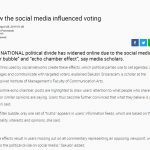 ให้สัมภาษณ์ The Nation : How the social media influenced voting